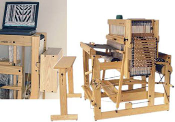 "Louet Megado Floor Loom 110 cm (43"") 16 shaft"