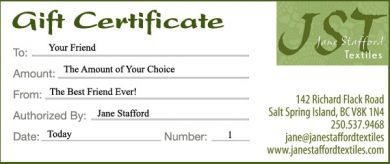 Gift Certificates - The Amount of Your Choice