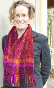 Patterns - Chenille Scarves - Autumn Fire