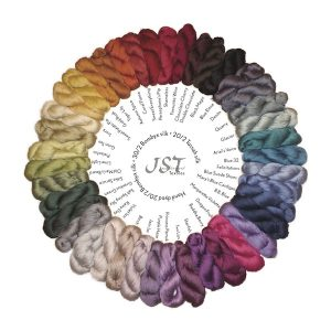 Sample card - Hand Dyed Silks