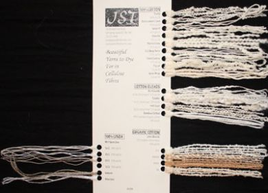 Sample Cards - Yarns To Dye For - Cellulose Fibres