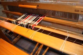 Cloth beam on the Louet Hollandia Loom