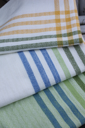 Patterns - Organic Cotton Spring Stripes Tea Towels