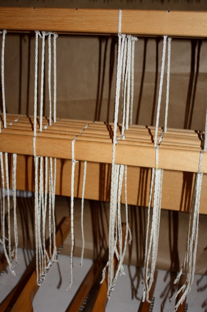 tie-up cords on Louet Spring Loom