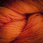 Hand Dyed Hot Line - 20/2 Bombyx Silk - #6 - Coral Flame