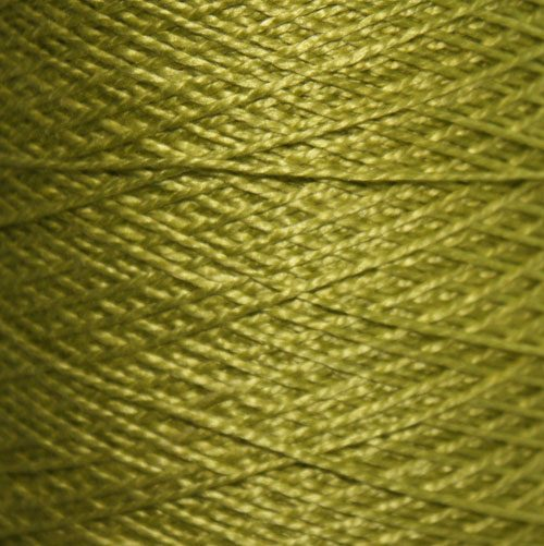Hand Dyed Hot Line - 20/2 Tussah Silk - #28 - Pistachio