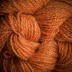 Hand Dyed Hot Line - 100% Silk Noil - Coral Flame