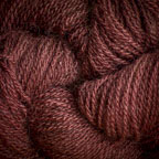 Hand Dyed Hot Line - 100% Silk Noil - Chocolate Cherry