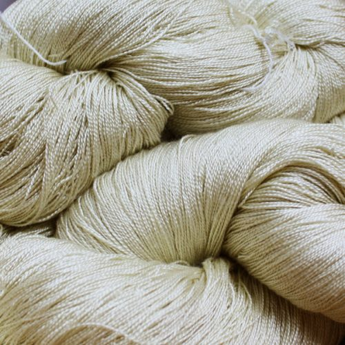 Hand Dyed Hot Line - 30/2 Bombyx Silk - #33 - Ivory