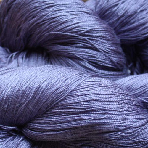 Hand Dyed Hot Line - 20/2 Tussah Silk - #40 - Blue Rinse