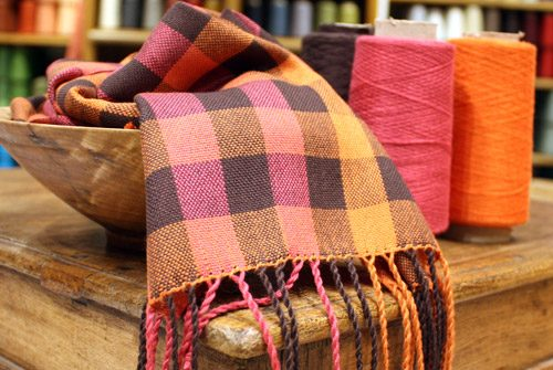 Pattern - Bambu - Heavenly Check Scarves - Autumn Flame