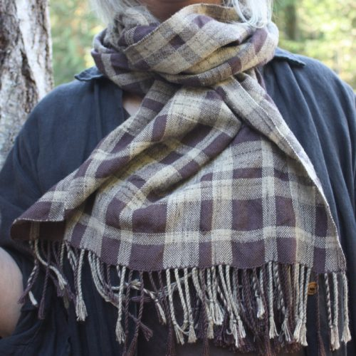 Natty Sherlock Scarf Kit as modeled by the delectable Jane Stafford