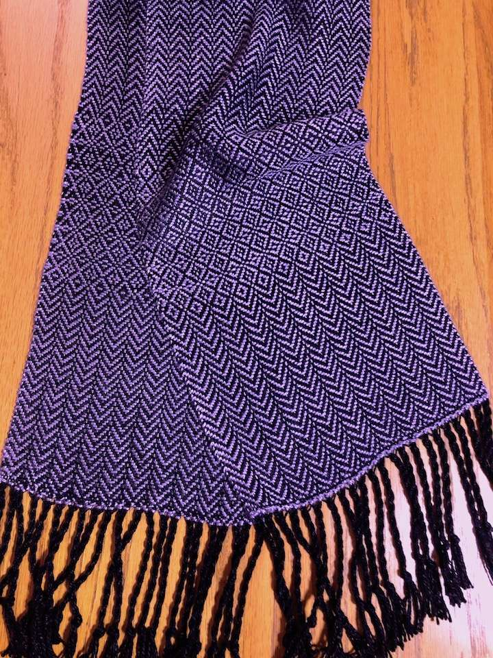 diamonds and arrows scarf