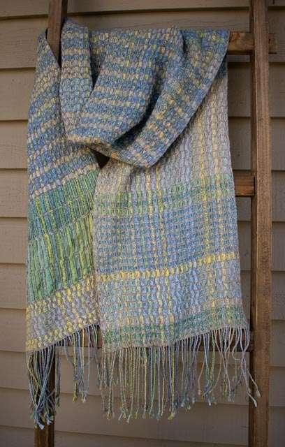 Deflected Doubleweave shawl
